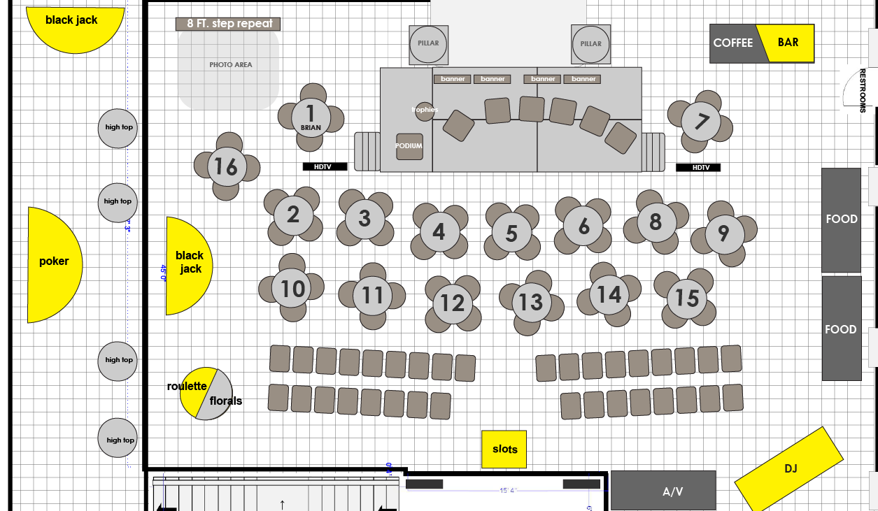 City First 25th Gala Floor Plan at Halycon House DC